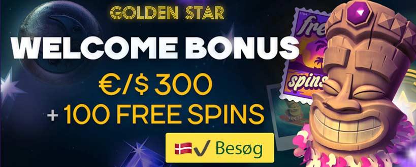 GoldenStar - Casino uden Rofus med Free Spins