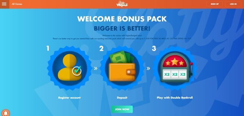 Slotty Vegas Casino bonus