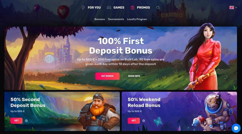Casinomia bonus