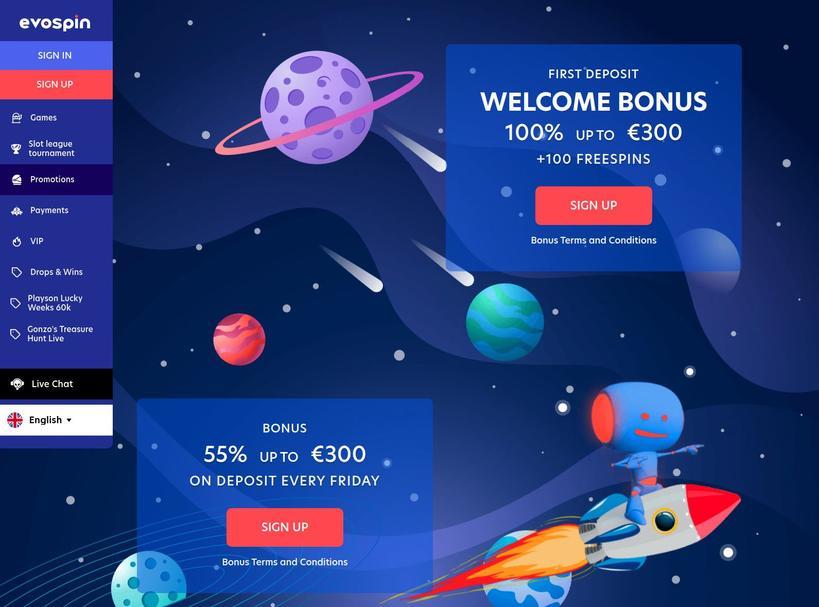Evospin Casino Bonusser