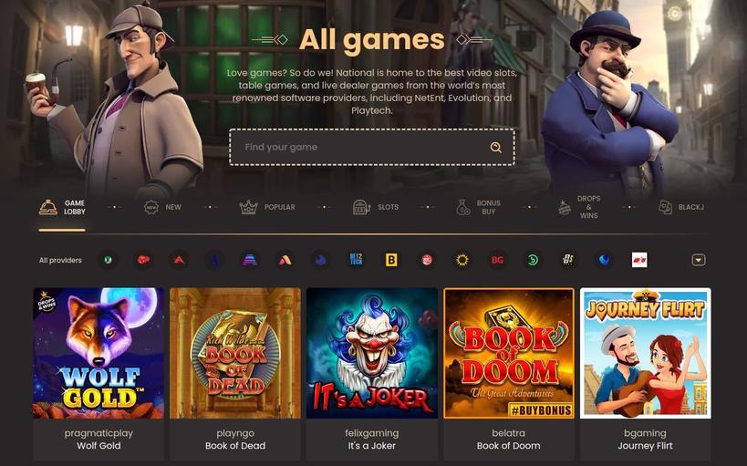 National Casino spillemaskiner